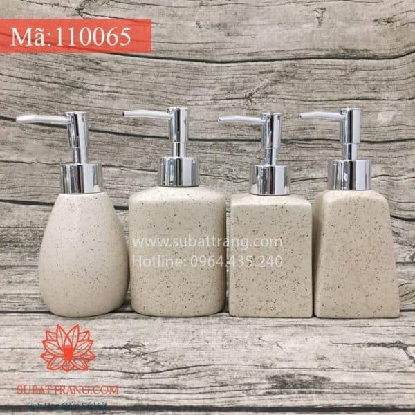 Bộ 4 Bình Sữa Tắm Men Cát Trắng - 110065