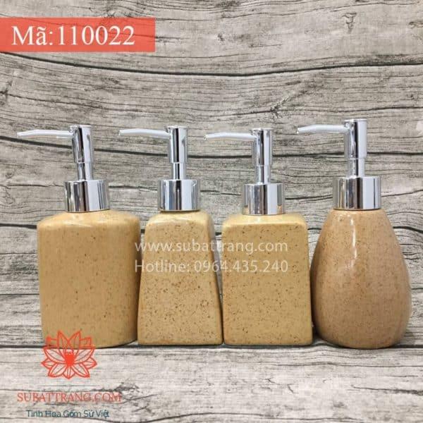 Bộ 4 Bình Sữa Tắm Men Cát Vàng - 110064
