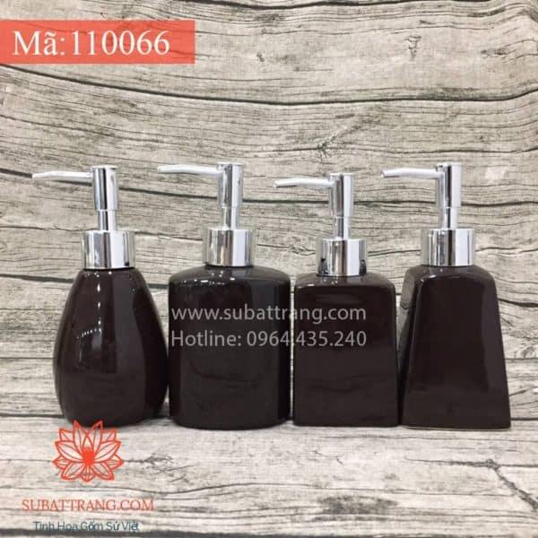 Bộ 4 Bình Sữa Tắm Men Đen - 110066