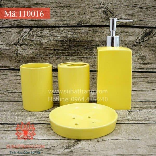 Bộ Bình Sữa Tắm Đầy Đủ Men Vàng - 110016