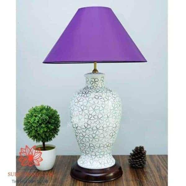 Đèn Sứ Thấu Quang Vẽ Ngàn Hoa - 150033
